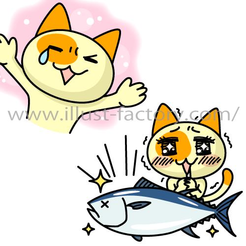 LINEスタンプ★ネコキャラ「肉球ふに丸」よろしくフニ!