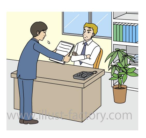 英語教材用★ビジネス向けイラスト★シンプルな線画タッチ★
