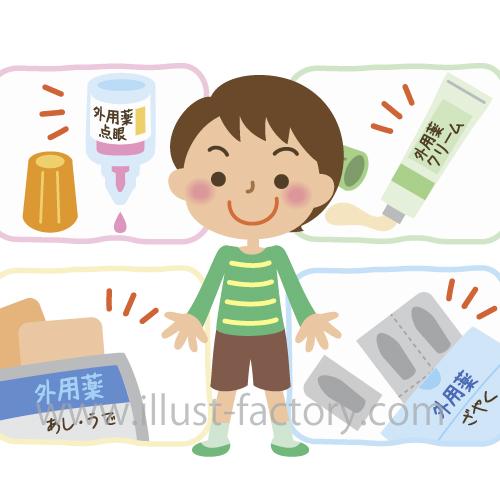 お薬の使用説明イラスト★子供向け冊子★