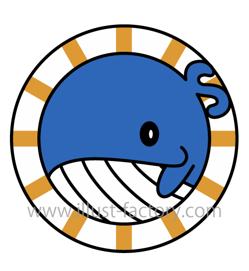 クジラモチーフロゴデザイン★鍼灸整骨院様ロゴ制作