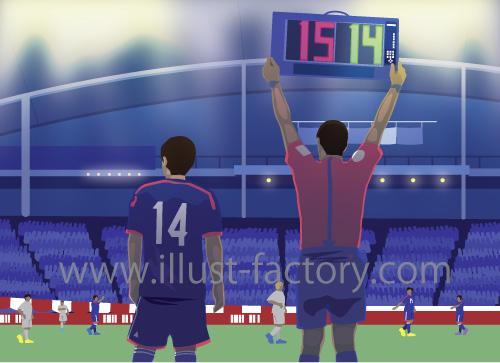 サッカー競技イラスト