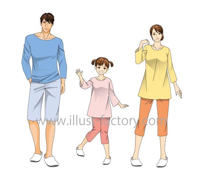 写実的な人物イラスト★頭身高めのタッチ★