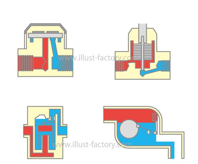 製品部品の断面図★シンプルな線画タッチで図解にオススメ!
