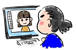 似顔絵の描き方・制作のコツ:作業イメージ図