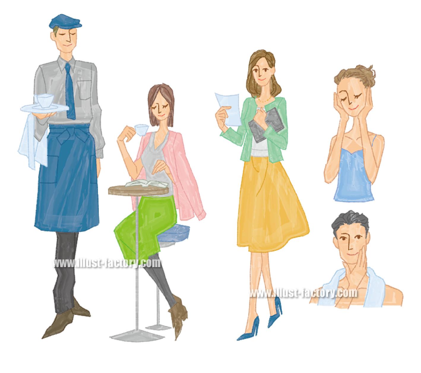 Illustratorで手描き風ペンタッチイラスト見本G266