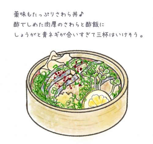 岡山名物グルメ・さわら丼