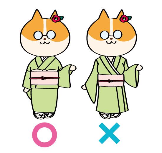 着物イラストの描き方・OK/NG例