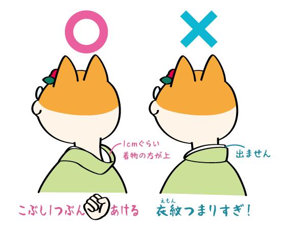 着物イラストの描き方・OK/NG例:後ろ襟