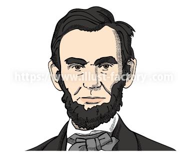 リンカーン偉人イラスト制作