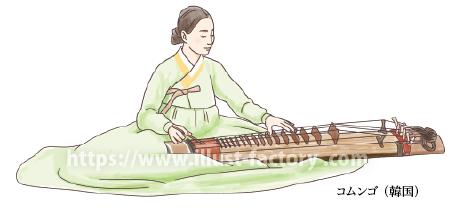 韓国民族衣装・楽器コムンゴ