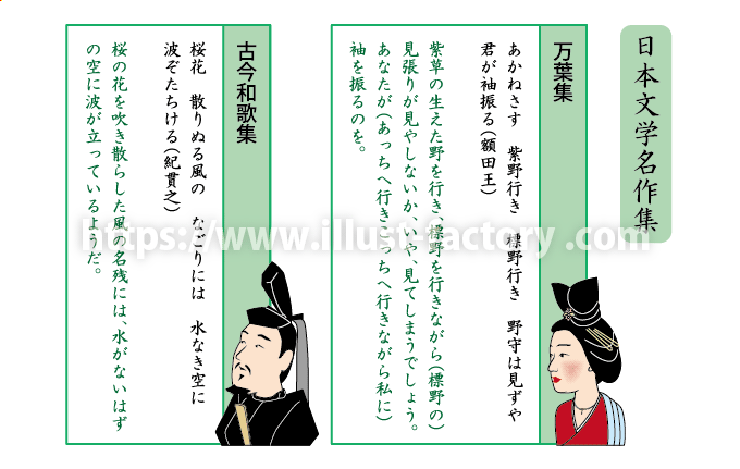 教材イラスト制作サンプル【国語教科書・古典】