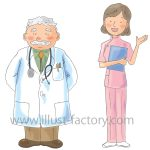新★手書き水彩風タッチが登場!医療系や子供、女性向けの挿絵にピッタリ!