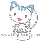 ネコのトイレとドッグフードイラスト★ペットショップさん向けにオススメ