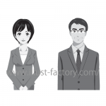 ビジネス向けタッチで人物の表情パターンイラスト☆テキストの挿絵用に制作!