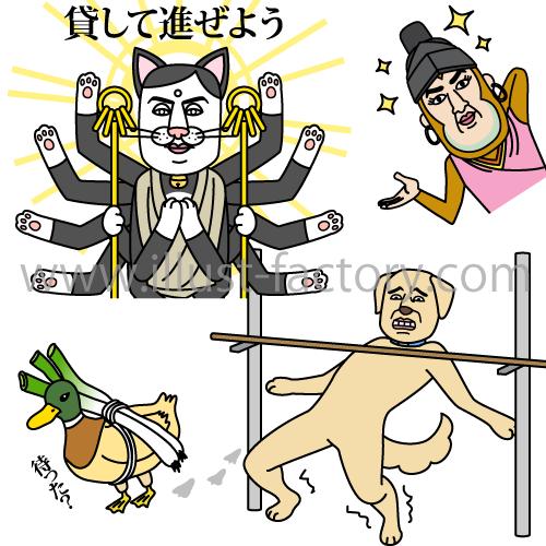 動物ことわざ☆LINEスタンプ制作☆イラスタンプシリーズ