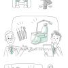 歯科医師の冊子用イラスト制作★ユルい線画タッチ★G24タッチ