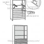 家具のイラスト★組み立ての説明図解★モノクロ線画タッチ