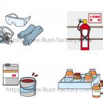 薬品の管理マニュアル用のイラスト★シンプルなくっきり線画タッチ★