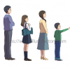 アニメ風タッチ★住宅関係の案件用家族のイラスト★B350タッチ