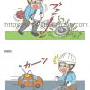 農園芸機器の使用注意イラスト★G167タッチ