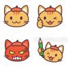 LINE絵文字★猫のキャラクターで制作