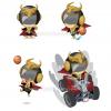 バスケットボールチームのキャラクター制作
