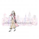 女性向けファッション手描きイラスト