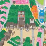 神社境内の鳥瞰図マップ