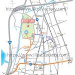 神社へのアクセスマップ