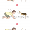 犬のしぐさのイラスト