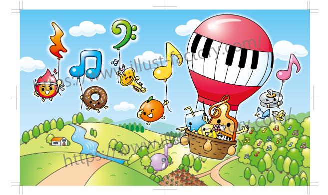 音楽教室ゆるキャラ制作 音符モチーフキャラクター C95