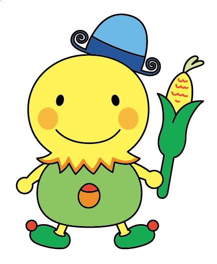 手描きデザイン画のデータ化 トウモロコシモチーフキャラクター C96