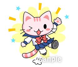 A02-62 セーラー服姿のネコ