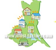A102-02 県内各地の住宅情報イラスト