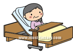 A104-06 リハビリイラスト 介助用ベッド