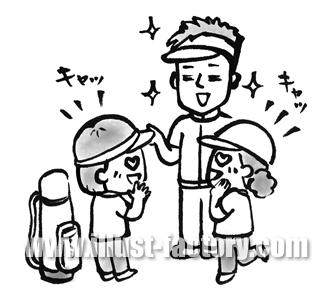 A118-10 書籍挿絵 ゴルフ イケメンコーチイラスト