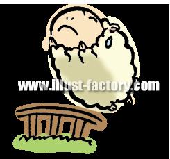 A119-01 ジャンプする羊のイラスト