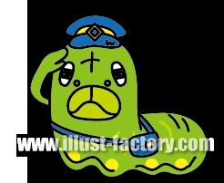 A120-01 幼虫・青虫 イラスト