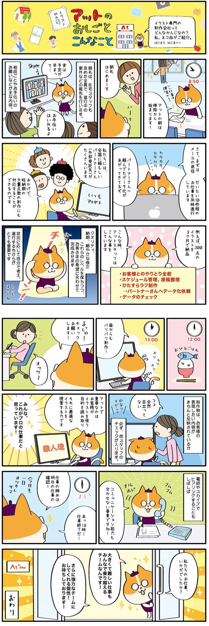 A125-01 業務・仕事紹介マンガ・猫