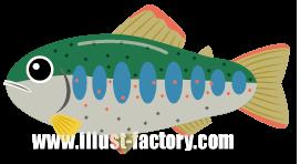 A136-02 魚イラスト アマゴ