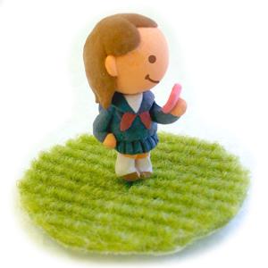 A138-02 粘土で立体イラスト 女子高生