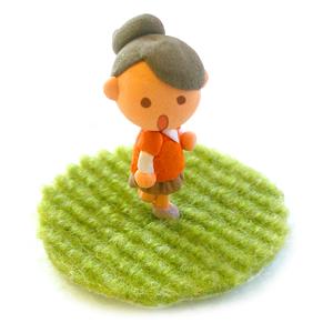 A138-06 粘土で立体イラスト 女性・女の子