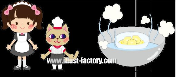 A140-01 調理方法説明イラスト お菓子作り