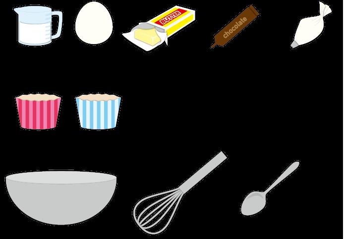 A140-5 調理器具や材料のイラスト