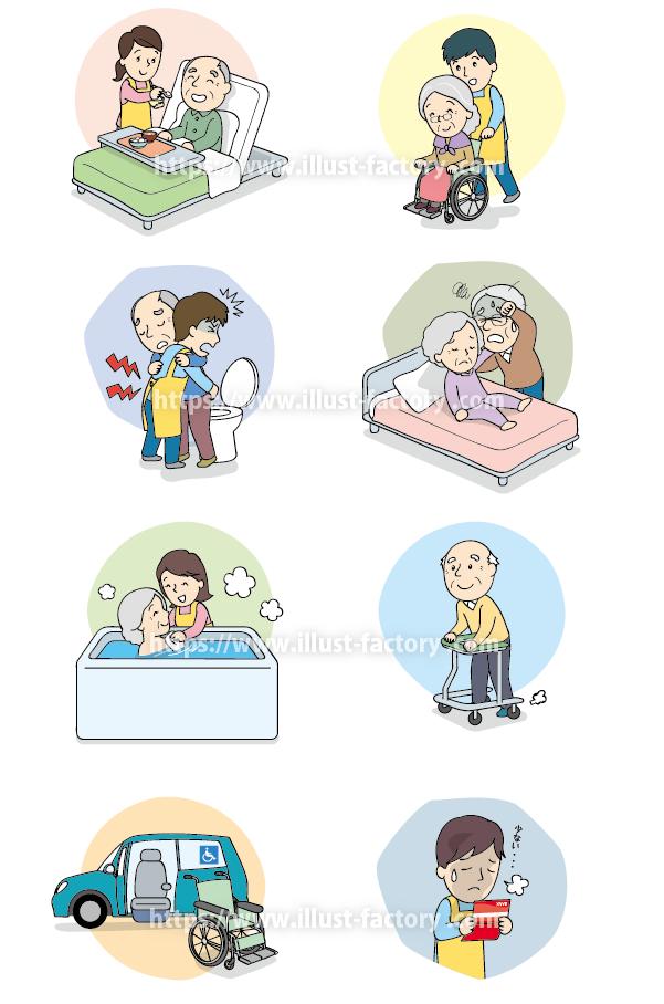 A177-02 シンプルな人物のイラスト制作 介護