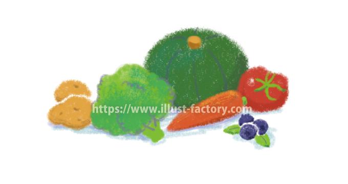A179-02 パステルタッチ 野菜・果物のイラスト制作