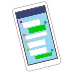 A189-9 メッセージアプリのイラスト