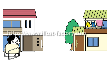 A193-1 在宅勤務のイラスト制作