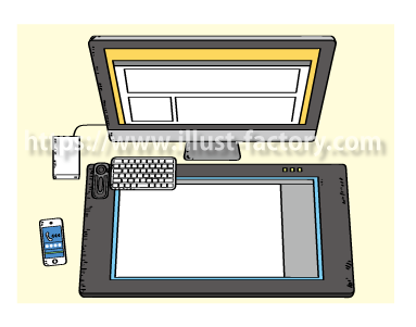 A193-2 イラスト制作環境 液晶タブレット