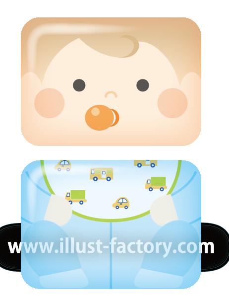 A199-5 立体シールイラスト 子供 赤ちゃん